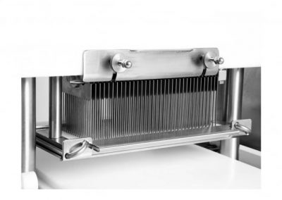 Close-up of Jaccard Commercial TSHY Automatic Meat Tenderizer blades
